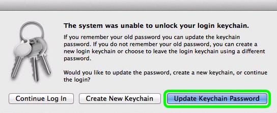 update keychain pop-up