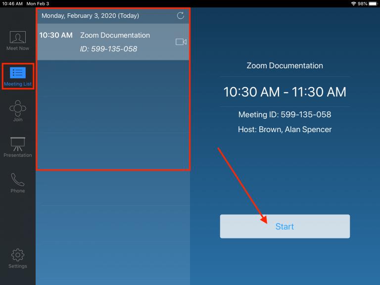 zoom ipad screenshot
