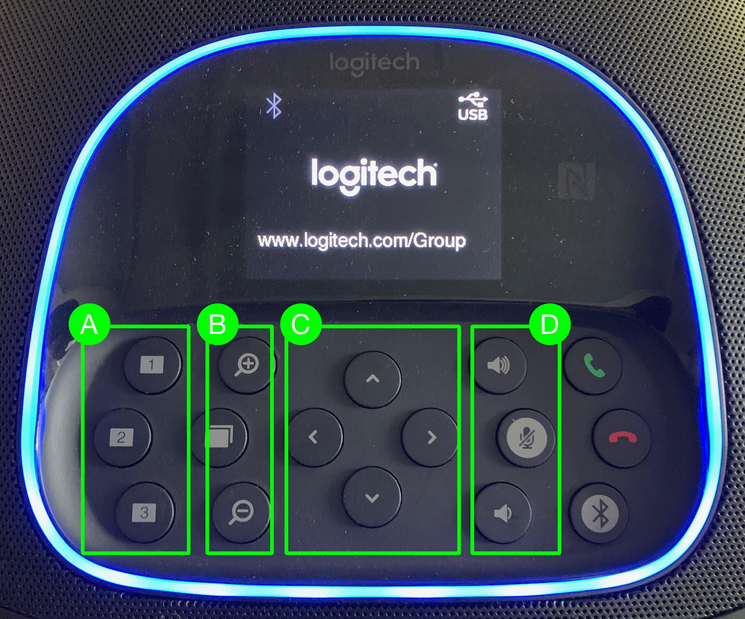 logitech controls