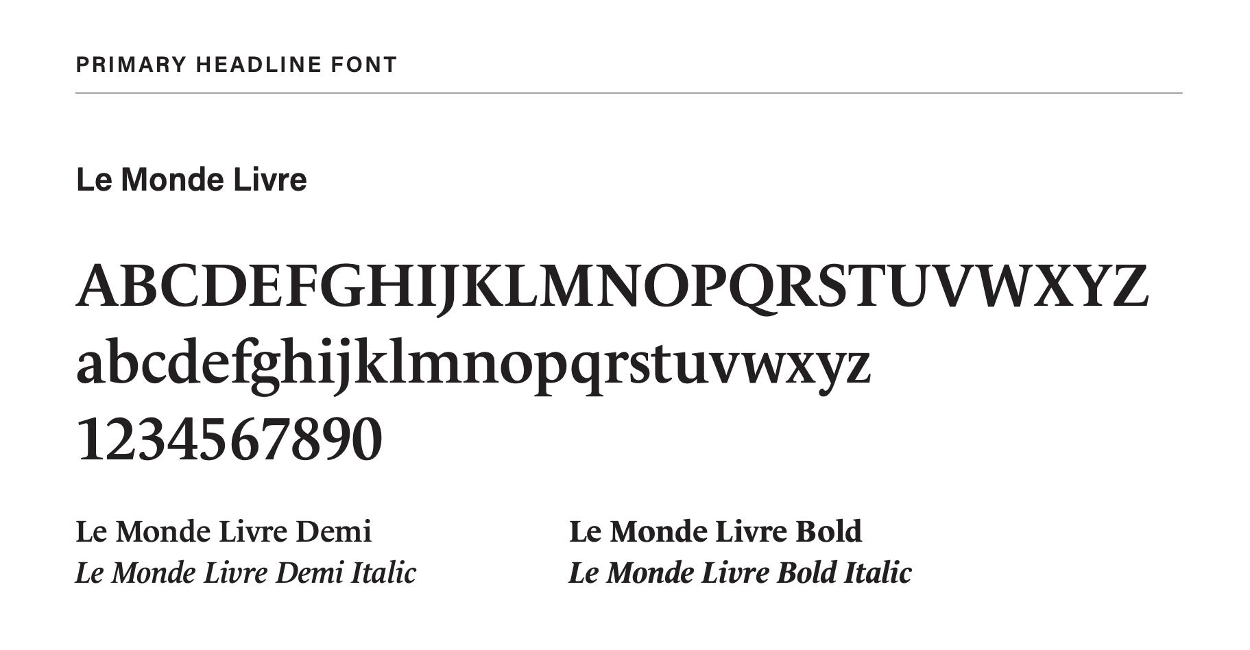 Branding: Le Monde Livre font image