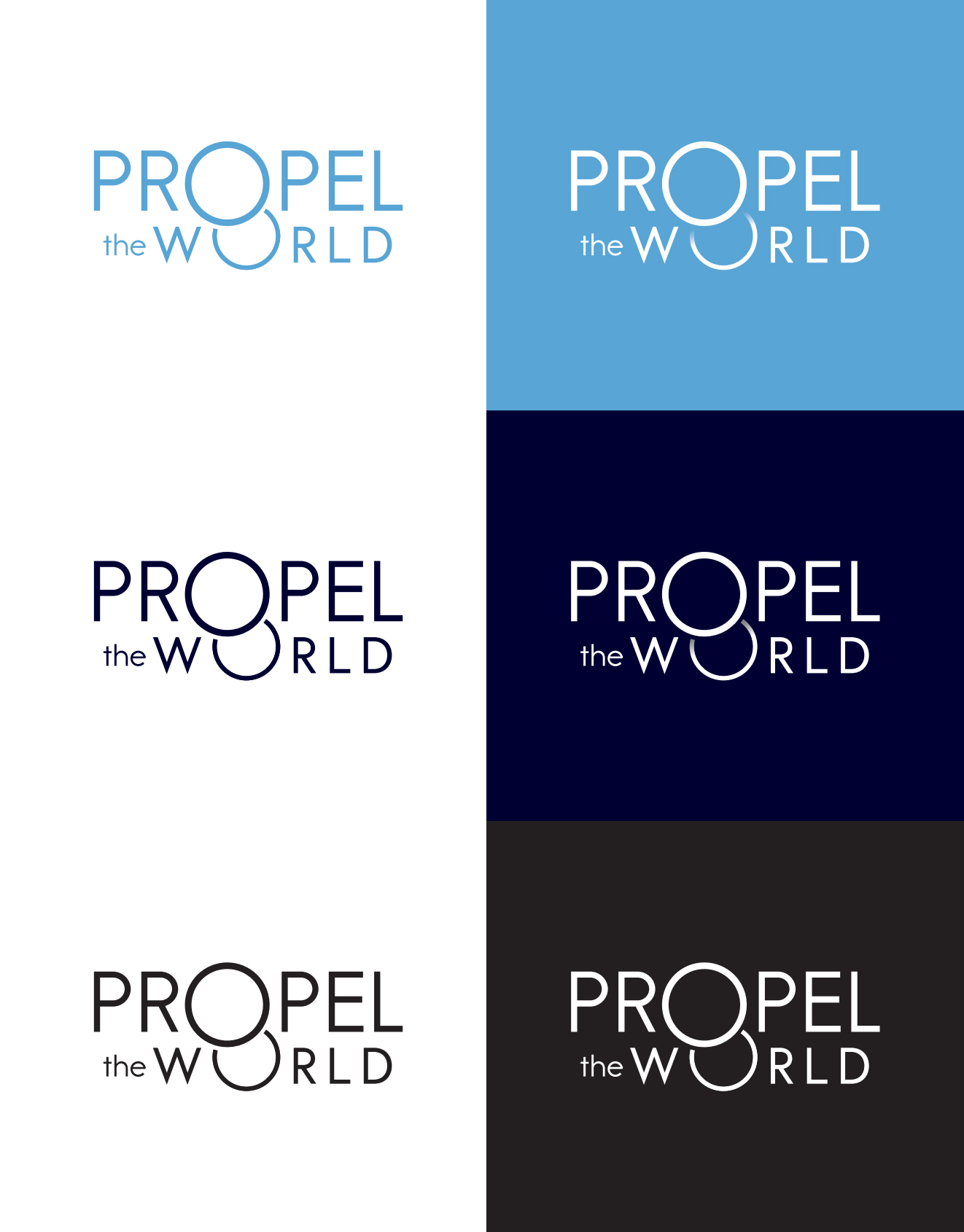 Branding: Propel the World logotypes
