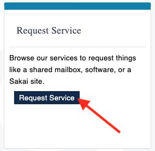 ServiceNow Request Service Button