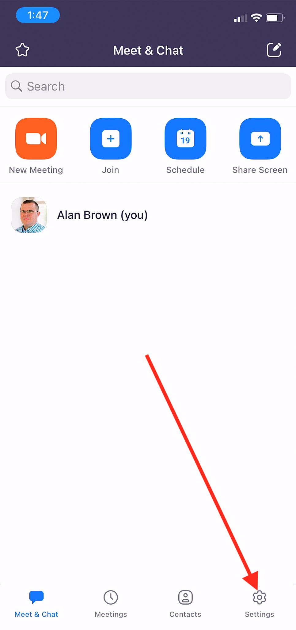 Phone Open Zoom App Settings
