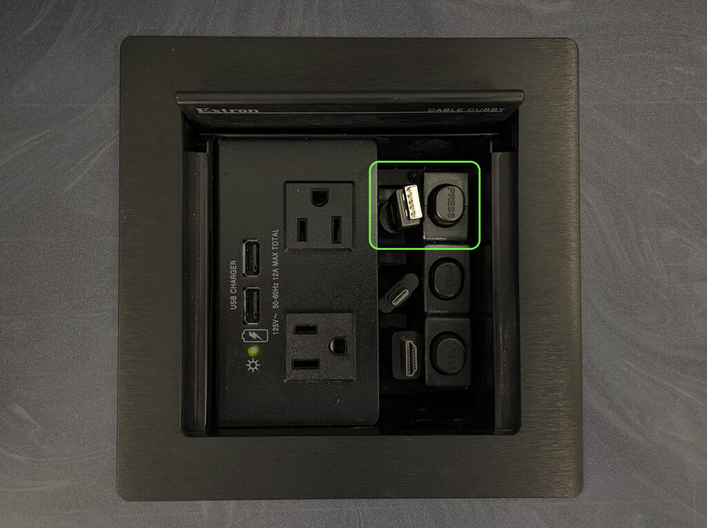 cable cubby usb